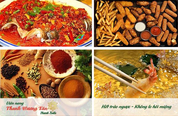Các thức ăn cay nóng gây cảm giác chua miệng