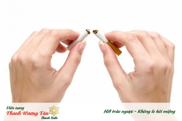 Làm gì khi bị hôi miệng - không hút thuốc lá