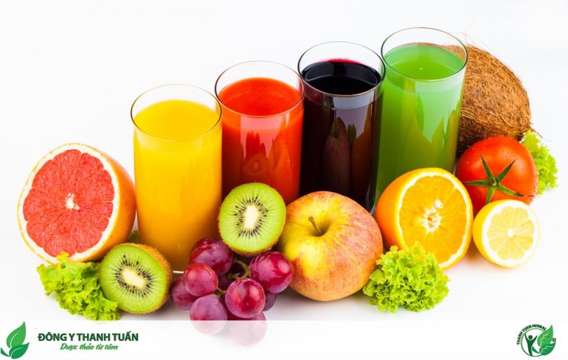 uống sinh tố giảm khô miệng