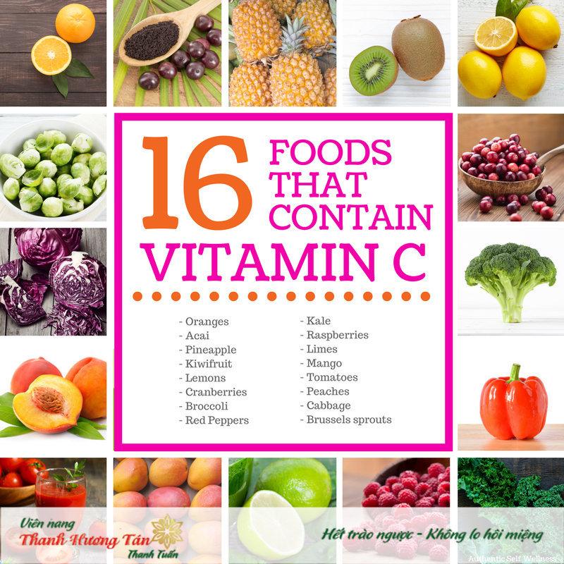 Mẹo giảm miệng chua đắng bằng Vitamin C