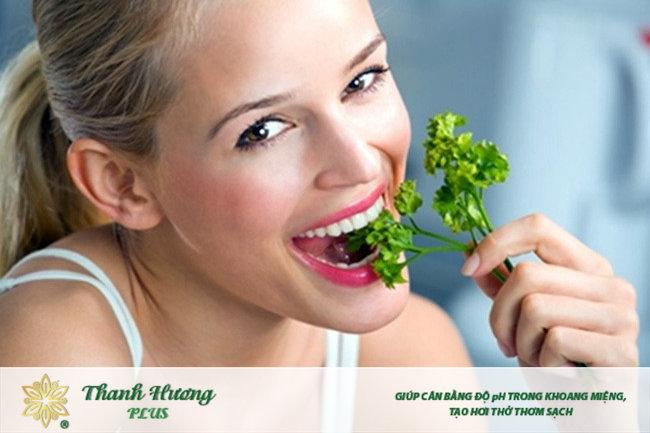 Những thảo dược quanh nhà bạn có thể làm thuyên giảm bệnh hôi miệng