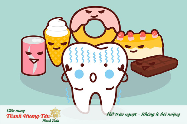 Thức ăn tồn đọng trong khoang miệng là guyên nhân gây miệng hôi