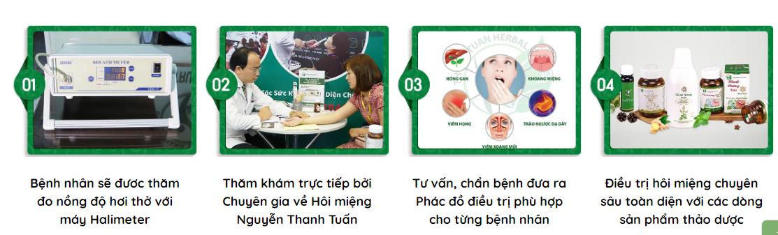 Các bước thăm khám hôi miệng trực tiếp tại phòng khám Đông y Thanh Tuấn